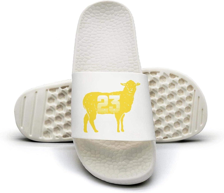 ADIDII Womens Printed Non-Slip Slipper Slide flip Flop Sandals G.O.A.T 23 Yellow Goat Basketball Summer Casual