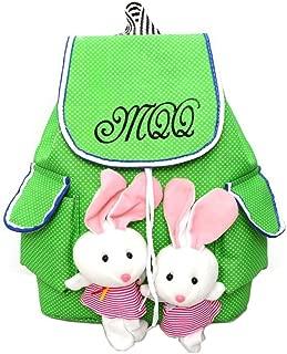 Backpack for Children School Bags Cartoon Backpacks Canvas Bag School Knapsack with 3D Cartoon Rabbit Plush