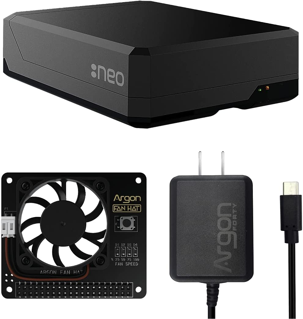 Argon NEO Raspberry Pi 4 Model B Same day shipping Heatsink with HAT Fan Case Ranking TOP12 and
