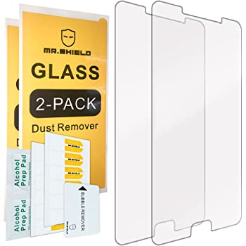 [2-Pack]-Mr.Shield for Samsung Galaxy A9 (2016) / Galaxy A9 Pro (2016) [Tempered Glass] Screen Protector with Lifetime Replacement