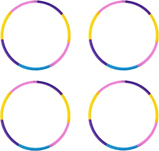 Liberry Kids Hula Hoop, Detachable Adjustable Plastic Hula Hoop for Kids, Suitable for Beginners and Children Age 2 and Up, Pack of 4