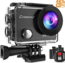 Crosstour Action Camera 4K 20MP WiFi Vlogging Camera Underwater 40M with Remote Control..