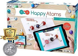 Happy Atoms Magnetic Molecular Modeling Complete Set | 50 Atoms | Create 17, 593 Molecules | 216 Activities | Free Educati...