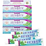 Auromere Ayurvedic Herbal Toothpaste, Mint Free - Vegan, Natural, Non GMO, Flouride Free, Gluten Free, with Neem &...