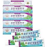 Auromere Ayurvedic Herbal Toothpaste, Mint Free - Vegan, Natural, Non GMO, Flouride Free, Gluten Free, with Neem & Peelu (4.16 oz), 4 Pack