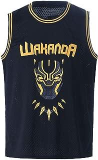 Mens Black Panther #1 T'Challa Costume Shirts #2 Killmonger Basketball Jersey