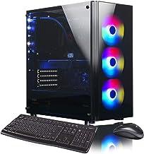 XOTIC V200 Essential (Intel 9th Gen i9-9900K 8-core 5.0GHz Turbo, 32GB DDR4 RAM, 500GB NVMe SSD + 2TB HDD, GTX 1660 Ti 6GB, Windows 10) Liquid Cooled VR Ready Gaming Desktop PC