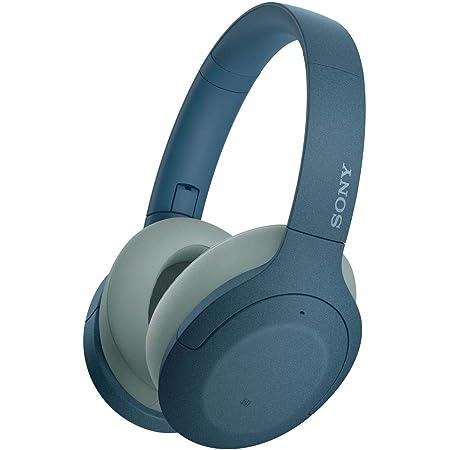 ソニー ワイヤレスノイズキャンセリングヘッドホン WH-H910N : ハイレゾ対応 / Amazon Alexa搭載 / bluetooth / 最大35時間連続再生 / ハイレゾ相当アップスケーリング対応 小型・軽量 タッチセンサー搭載 キャリングポーチ付属 2019年モデル / マイク付き/ ブルーWH-H910N L