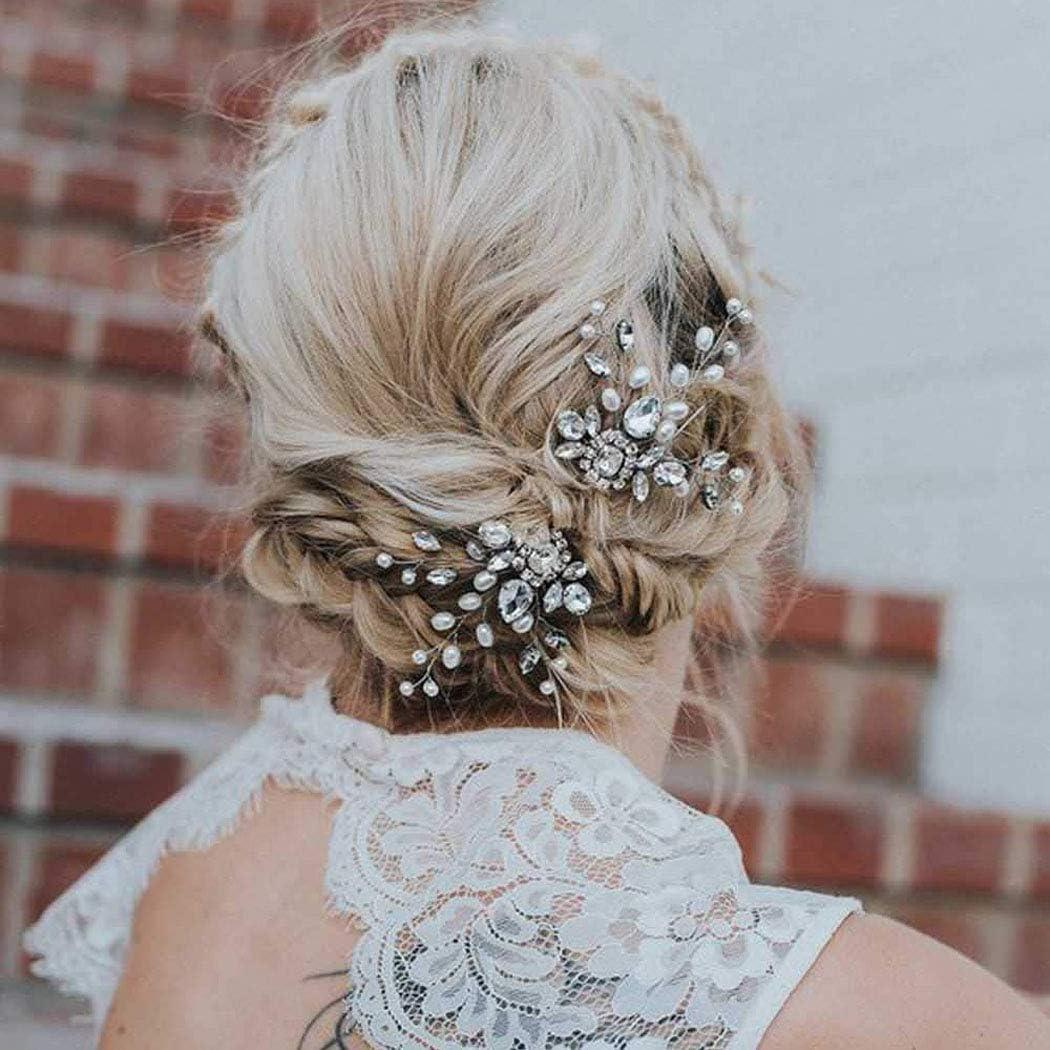 Unicra Bride Outstanding Wedding Crystal Ranking TOP19 Hair Silver Pins Bridal Headpieces