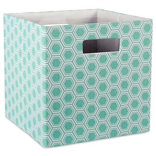 DII Aufbewahrungsbehälter für Kinderzimmer, Büro und Zuhause Honigwabe Small Aqua