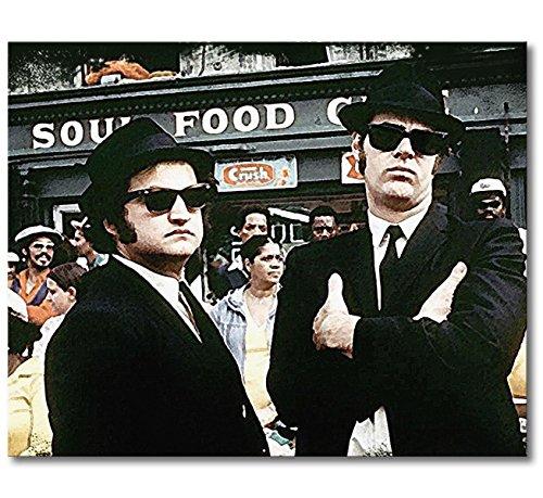 WandbilderXXL Immagine su Tela Blues Brothers Moment 100x 80cm–in 6Diverse Misure. Stampata su Tela e preparata su Telaio. Quadri su Tela a Prezzi Top.