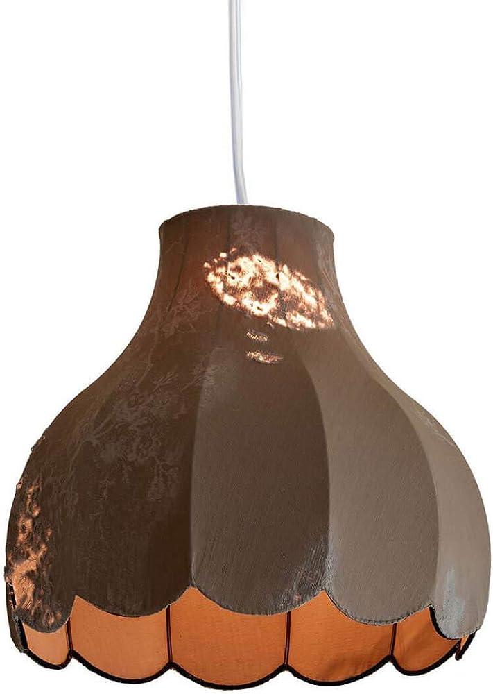 Karman life, lampada a sospensione  Ø55 cm, con paralume in denim vintage SE652V