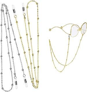 con Perle e Cordino DIVISTAR Colore: Bianco 2 collane per Occhiali da Sole