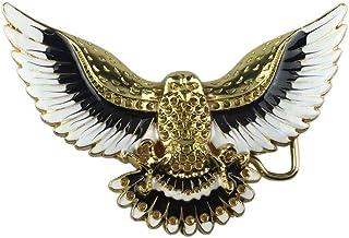 G/én/érique Hebilla para cintur/ón de /águila real dorado sobre placa de esta/ño.