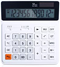 $36 » Calculator Business Office LCD Large Screen Display 12-Digit Dual Power Handheld Solar Large Button Calculator (A)