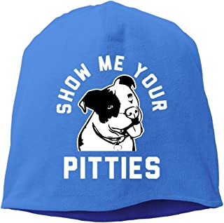 2fcf0ceeb17 Show Me Your Pitties Funny Pitbull Unisex Stretch Beanie Skull Cap Knit Hat  For Men Women