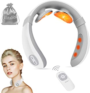 Neck Massager for Pain Relief, Intelligent Neck Massager with Heat Cordless, Portable Electric Neck Massager for Relaxing ...