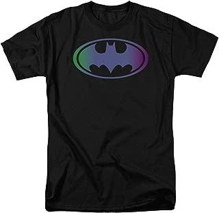 Batman Tinted Blue Logo DC Comics T Shirt & Stickers