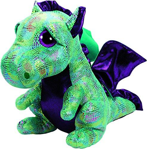 TY Cinder Dragon 37099 Drache Pluschtier mit Glitzeraugen, Grun