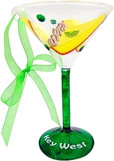Key Lime Pie Martini Glass Christmas Ornament Boxed Florida Keys Souvenir Gift 5 Inch