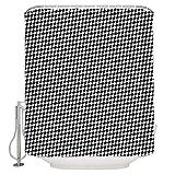 duanyunmei Klassischer Hahnentritt-Duschvorhang aus wasserdichtem Duschvorhang aus Polyestergewebe für Badezimmer