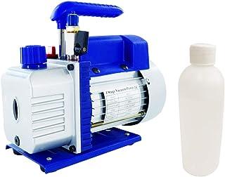 3CFM 1/4HP Single Stage Rotary Vane Vacuum Pump, Vacuum Pump HVAC 110V, Air Conditioning Vacuum Pumps with Manual Valve & ...