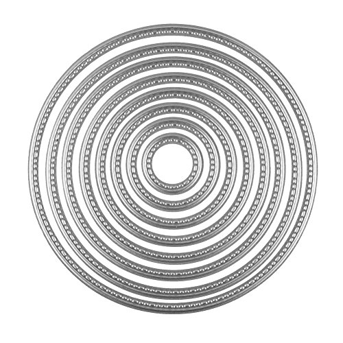 DECORA Circle Cutting Dies Stencil for DIY Scrapbooking Album Paper Card Embossing Craft Decoration