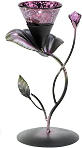 Gifts & Decor Lilac Lily Pad Tealight Candleholder Centerpiece Stand