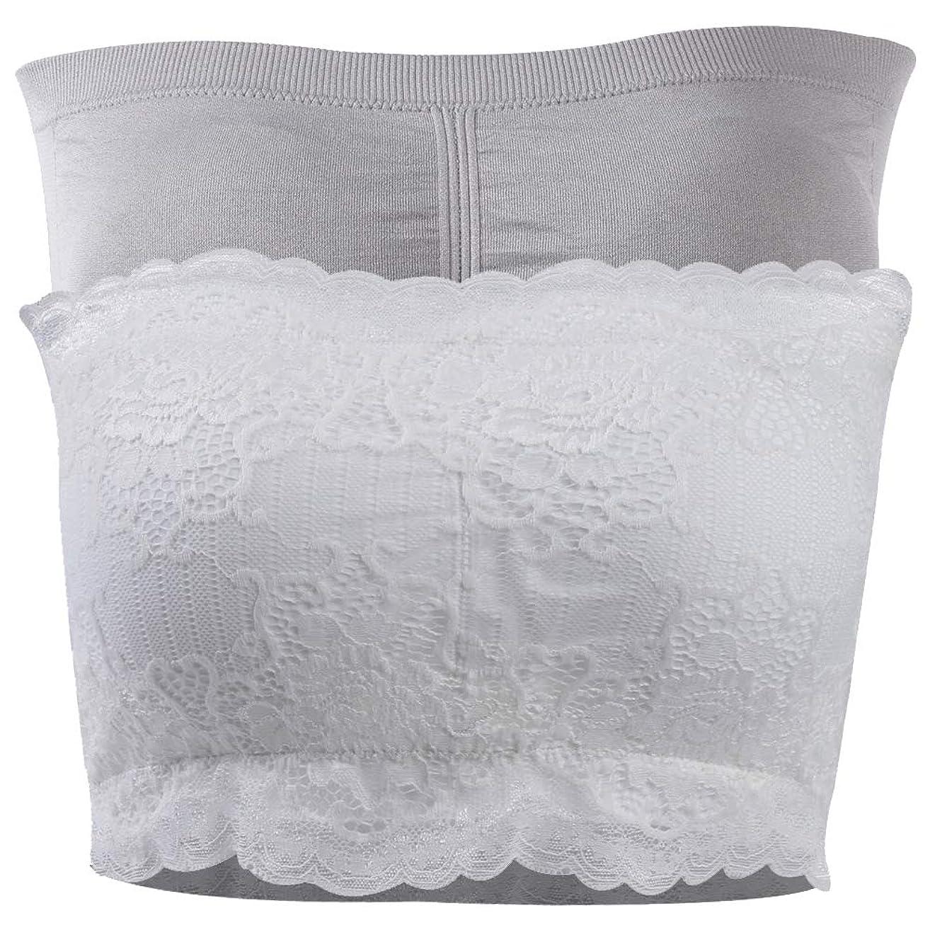 DD DEMOISELLE Women's Bandeau Bra, Basic Layering Seamless Bra Crop Tube Top Bandeau Strapless Brarette