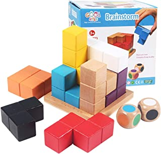 3D Wooden Tetris Blocks Brainstorm Soma Cube Logical Thinking Brain Teaser Toys and Games