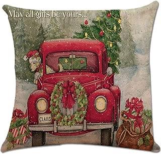 YESWOMAN Christmas Xmas Santa Claus Cushion Cover Pillow Case Square Car Home Decor Castle Theme Sofa Decorative