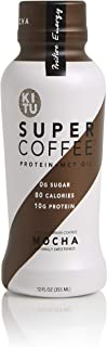 Kitu by Sunniva Super Coffee Mocha Sugar-Free Formula, 10g Protein, Keto Approved, Lactose Free, Soy Free, Gluten Free, Pack of 24