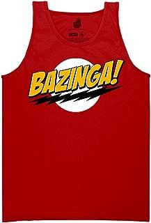 Big Bang Theory Bazinga No Face Adult Tank Top