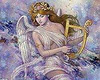 天使の羽アニメ漫画美少女 大人のためのダイヤモンドペインティングキットダイヤモンドアート5Dペイントダイヤモンド付き、DIYペインティングキットペイントナンバーバースデーギフト 30X40cm