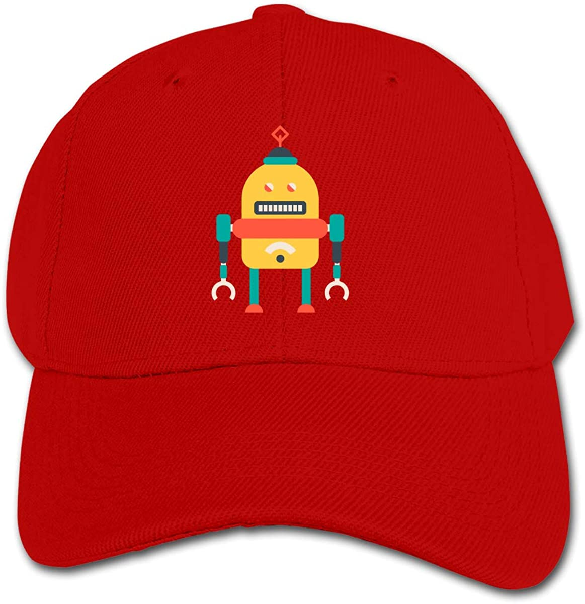 The Robot Kids Baseball Cap Hat Unisex Toddler Sun Hat Adsjutable Trucker Hat