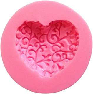 Qinlee 3D Rose Flower in Heart Shape Silicone Icing Mold Mould Creative Soap Cake Sugar Jelly Decoration DIY Baking Tools Crafts For Valentine Gift