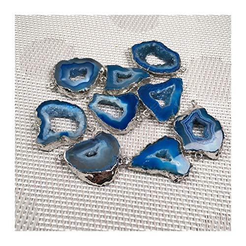 YDZS Collares para Mujeres Piedra de la viruta Patch Colgante Agujero Doble Conector Colgantes (Color : 2)
