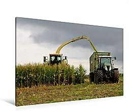 Premium - Lienzo de lienzo (120 x 80 cm, horizontal, imagen sobre bastidor, imagen sobre lienzo auténtico, impresión sobre cortacésped en la cosecha de maíz (CALVENDO Natur);CALVENDO Natur