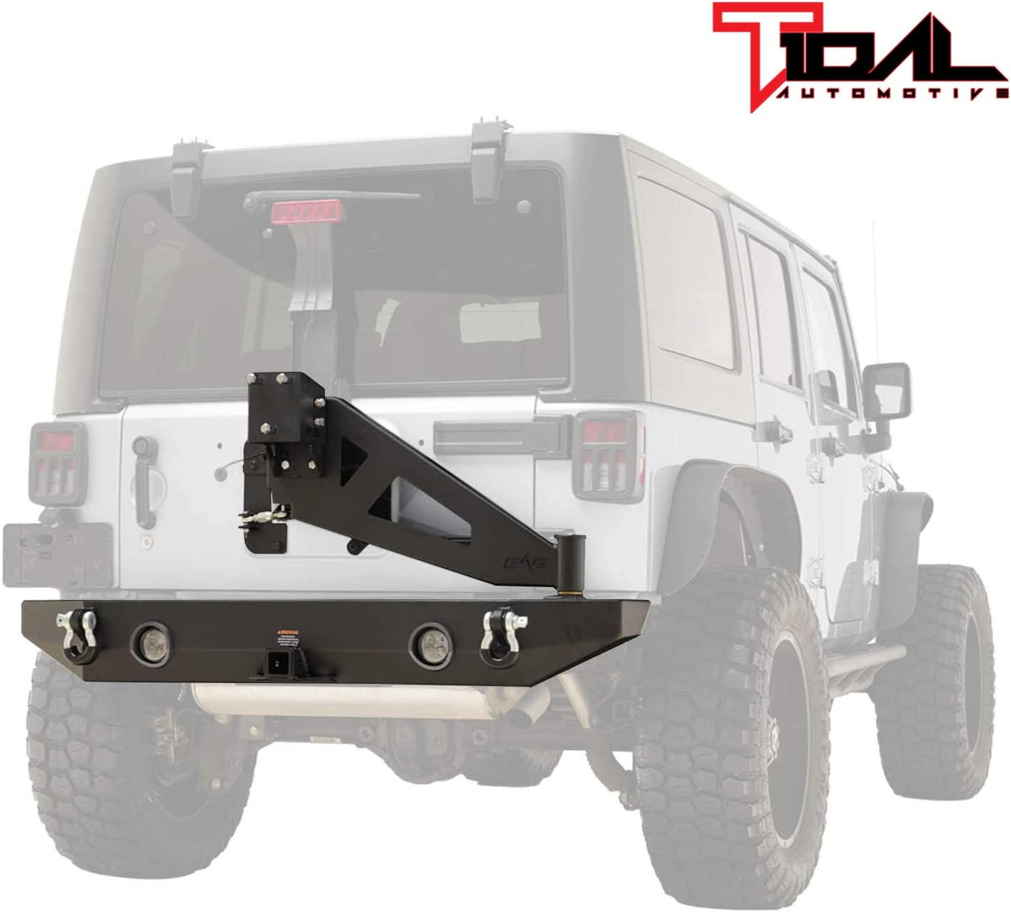 Tidal Rear Bumper 期間限定 Spare Tire Rack Receiver 2 お買い得 W LED Lig Hitch