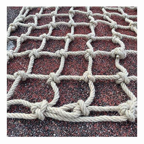 Escalada de Yute,red de Seguridad de Cuerda de Cáñamo Redes de Carga de Camiones de Carga de Remolques Casa de Árbol Infantil Columpio Barandilla de Protección Red de Vallas Soporte de Carga: 198 Lb