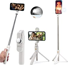 Sponsored Ad - Selfie Stick Tripod, Extendable Bluetooth Selfie Stick with Fill Light and Wireless Remote for Selfie/Group...
