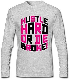 Kkhoodie Men's Hustle Hard Or Die R2 Long Sleeve T-Shirt