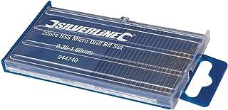 Silverline 944740 HSS-miniborr, 20 st. sats, silver, bit