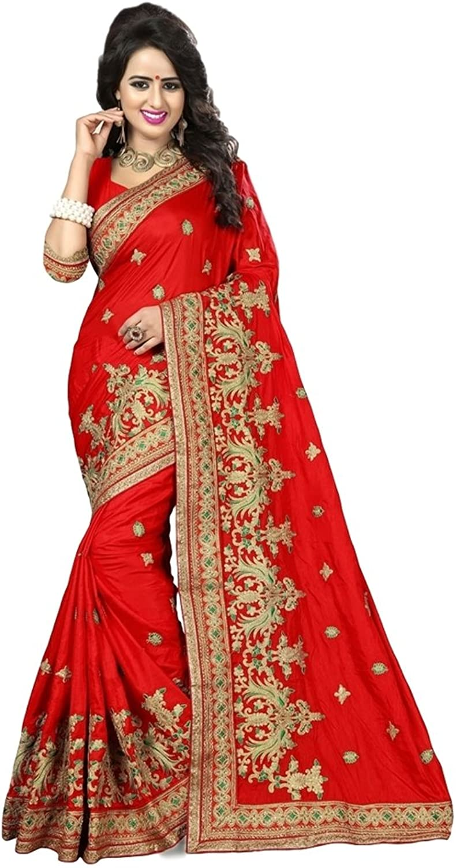 EthnicWear New Karwa Chowth Karva Chauth Red Art Silk Indian Women Festival Wedding Party Wear Resham Work Saris Sarees