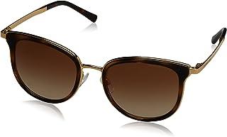 MICHAEL KORS Women's Adrianna I 110113 54 Sunglasses, Dark Tortoise/Gold/Browngradient