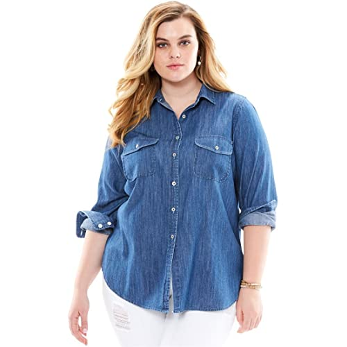 Plus Size Jean Shirt: Amazon.com