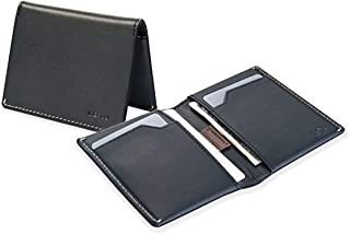 Italy Leather Slim Sleeve Mens Compact Bifold Wallet (6 Colors) RFID Blocking & Unique Stitching Billfold