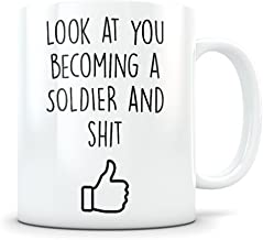 Army Graduation Gifts - Military Science Graduates - US Army Soldier Coffee Mug for Men and Women Bootcamp Students Class of 2018 - Funny Boot Camp Grad Degree Congratulations