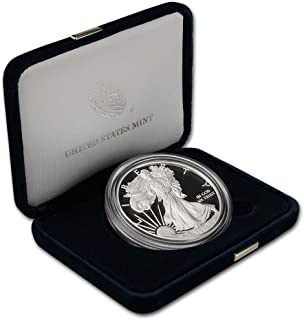 2014 W American Silver Eagle Proof $1 OGP US Mint