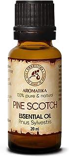 Aceite Esencial de Pino 20ml - Aceite Escocés de Pino - 100% Puro y Natural - Sin diluir - usos para Aliviar la Tensión - ...